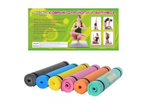 Гимнастический коврик (коврик для фитнесса, йогамат, мат для йоги) MS 0205