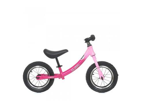 Беговел детский на надувных колесах 12 дюймов ML-0083-2 розовый