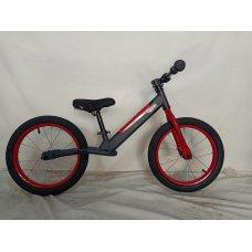 Детский беговел (велобег) на надувных колесах 16 дюймов Crosser BALANCE bike JK-07 AIR серый