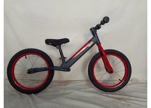 Детский беговел (велобег) на надувных колесах 14 дюймов Crosser BALANCE bike JK-07 AIR серый