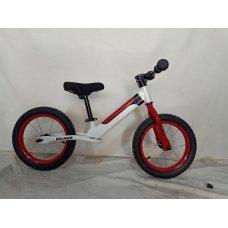 Детский беговел (велобег) на надувных колесах 14 дюймов Crosser BALANCE bike JK-07 AIR белый