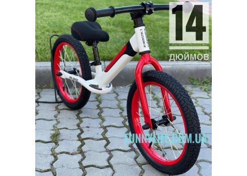 "Беговел Crosser BALANCE bike 14"" JK-07 AIR белый"