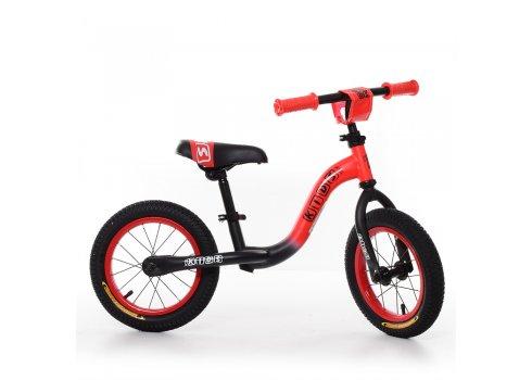 Беговел (велобег) на надувных колесах 12 дюймов, W1201-5 черно-красный матовый