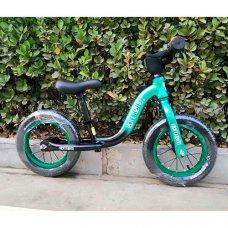 Беговел (велобег) на надувных колесах 12 дюймов W1203A-2 зелено-черный