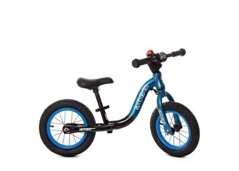 Беговел (велобег) на надувных колесах 12 дюймов W1203A-3 сине-черный