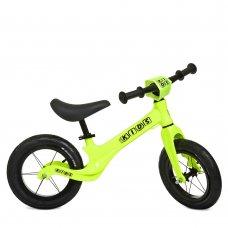 Беговел (велобег) на надувных колесах 12 дюймов SMG1205A-3 салатовый