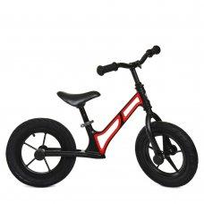 Беговел детский на надувных колесах PROFI KIDS 12 д. HUMG1207A-1 черно-красный
