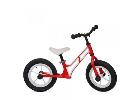 Беговел детский на надувных колесах PROFI KIDS 12 д. HUMG1207A-2 красно-белый