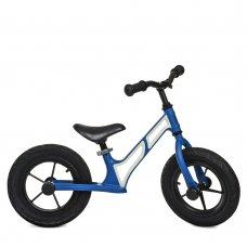 Беговел детский на надувных колесах PROFI KIDS 12 д. HUMG1207A-3 сине-белый
