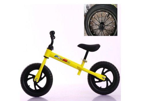 Велобег (беговел) Tilly на надувных колесах T-212514 Yellow желтый