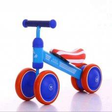 Беговел (велобег) четырехколесный Mini Bike T-212517 Blue голубой