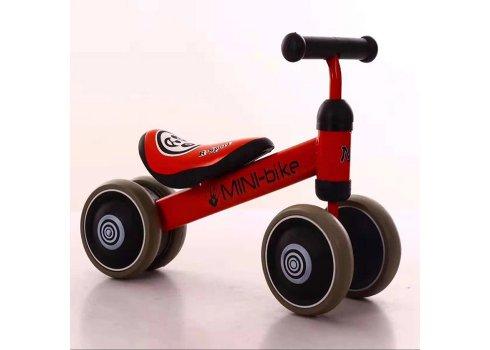 Беговел (велобег) четырехколесный Mini Bike T-212517 Red красный