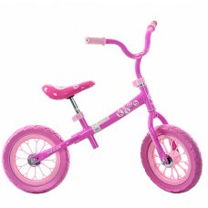 Детский беговел (велобег) 12 дюймов Profi Kids M 3255-1 розовый