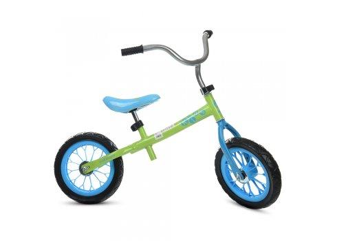 Детский беговел (велобег) 12 дюймов Profi Kids M 3255-4 салатово-голубой