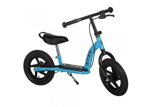 Беговел Profi Kids с тормозом на надувных колесах 12 дюймов, M 3438AB-2 голубой