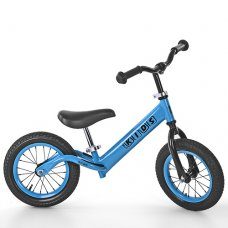 Беговел Profi Kids 12 дюймов надувные колеса, M 3844A-1 голубой