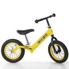 Беговел Profi Kids 12 дюймов надувные колеса, M 3844A-2 желтый