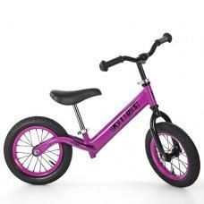Беговел Profi Kids 12 дюймов надувные колеса, M 3844A-3 розовый