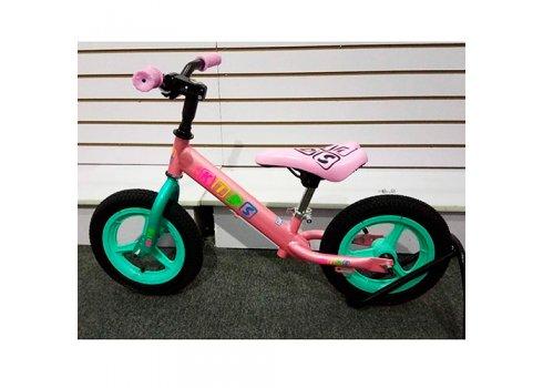Беговел Profi Kids 12 дюймов надувные колеса, M 3846A-2 розово-мятный