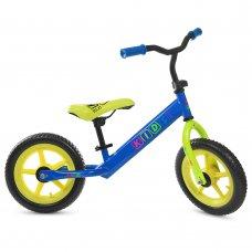 Беговел Profi Kids 12 дюймов EVA колеса, M 3847-2 сине-салатовый