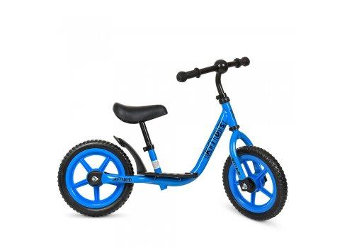 Беговел (велобег) на EVA колесах 12 дюймов PROF1 KIDS M 4067-3 голубой