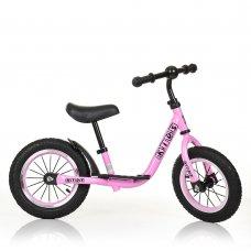 Велобег (беговел) Profi Kids на резиновых колесах M 4067A-4 розовый