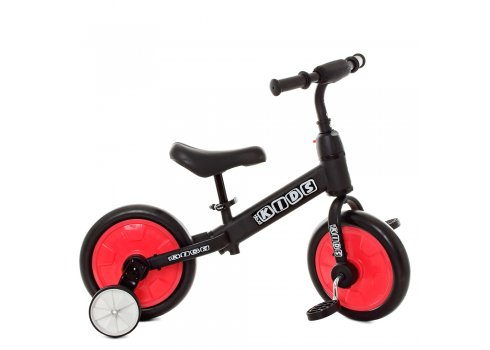 Беговел (велобег) детский 2в1 12 дюймов PROF1 KIDS M 5452-1 черно-красный