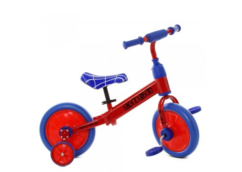 Беговел (велобег) детский 2в1 12 дюймов PROF1 KIDS M 5453-1 красно-синий