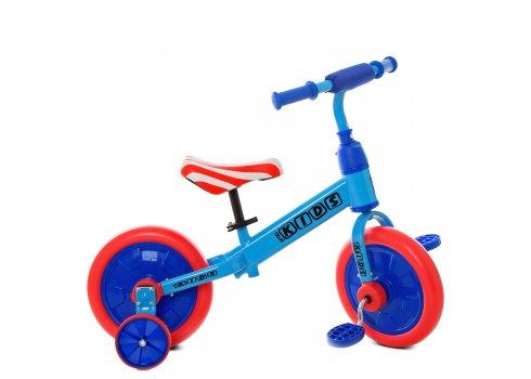 Беговел (велобег) детский 2в1 12 дюймов PROF1 KIDS M 5453-3 сине-красный