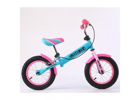 Беговел (велобег) 12 дюймов PROF1 KIDS M 5454AB бирюзово-розовый