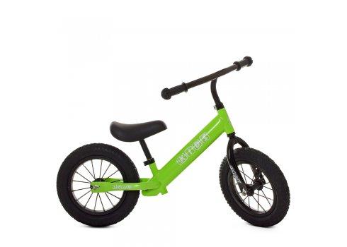 Беговел (велобег) на надувных колесах PROF1 KIDS M 5456B-2 салатовый