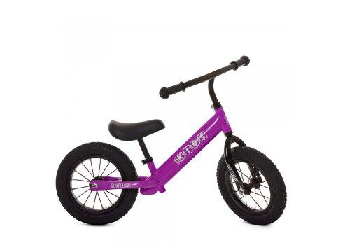 Беговел (велобег) на надувных колесах PROF1 KIDS M 5456B-4 фиолетовый