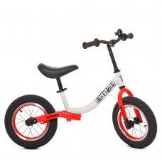 Беговел детский на надувных колесах PROFI KIDS 12 дюймов M 5460A-7 бело-красный