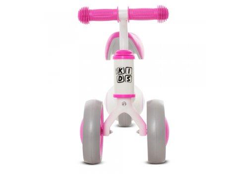 Беговел (велобег) трехколесный PROF1 KIDS M 5461-5 бело-розовый