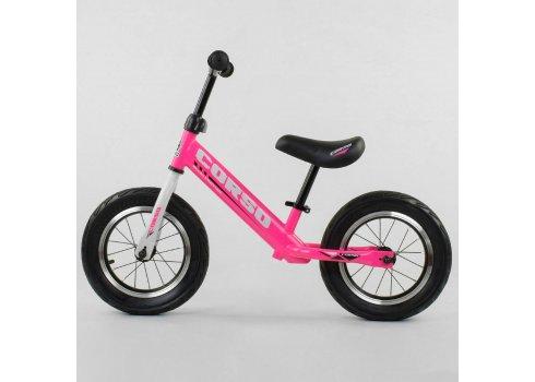 Детский беговел (велобег) Corso 63908 розовый
