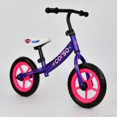 Детский велобег Corso на EVA колесах, С-7340 фиолетовый