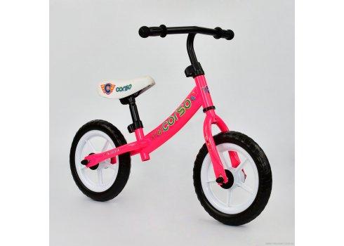 Детский велобег Corso на EVA колесах, С-7450 розовый