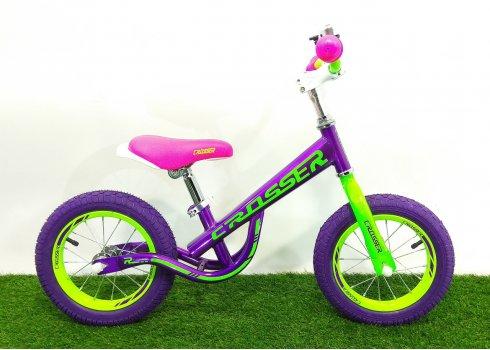 Детский беговел (велобег) Crosser Balance Bike New 12 дюймов фиолетовый