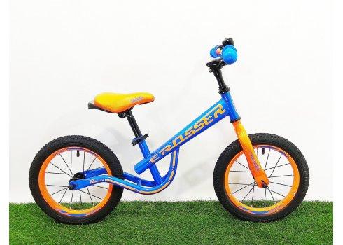 Детский беговел (велобег) Crosser Balance Bike New 14 дюймов синий