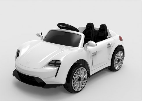 Детский электромобиль Porsche для детей от 1 года Tilly FL1718 EVA WHITE белый