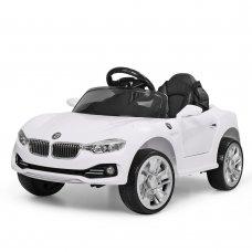 Детский электромобиль BMW БМВ на амортизаторах M 3175EBLR-1 белый