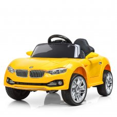 Детский электромобиль BMW БМВ на амортизаторах M 3175EBLR-6 желтый