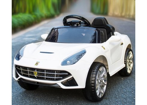 Детский электромобиль машина Ferrari (Феррари) M 3176EBLR-1 белый
