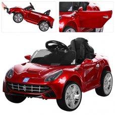 Детский электромобиль Ferrari с кожаным сиденьем, M 3176EBLRS-3 красный автопокраска