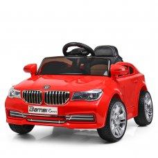 Детский электромобиль BMW с кожаным сиденьем, M 3271EBLR-3красный