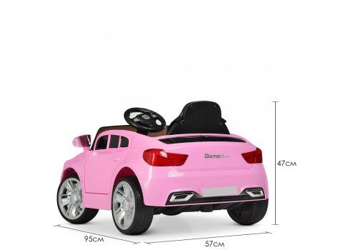 Детский электромобиль BMW с кожаным сиденьем, M 3271EBLR-8 розовый