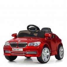 Детский электромобиль BMW с кожаным сиденьем, M 3271EBLRS-3 красный автопокраска