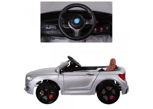 Детский 2-моторный электромобиль BMW, M 3293 EBLRS-11 серебро автопокраска