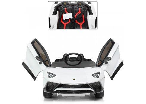 Детский 2-моторный электромобиль Lamborghini, M 3903EBLR-1 белый