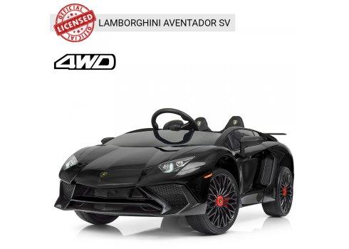 Детский 2-моторный электромобиль Lamborghini, M 3903EBLR-2 черный